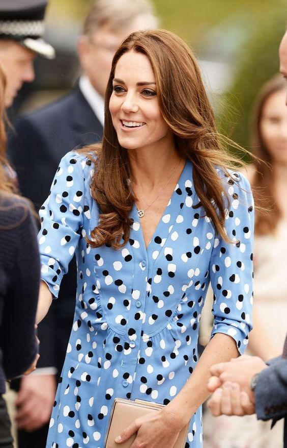 Kate Middleton wears new designer dress for visit to Essex school