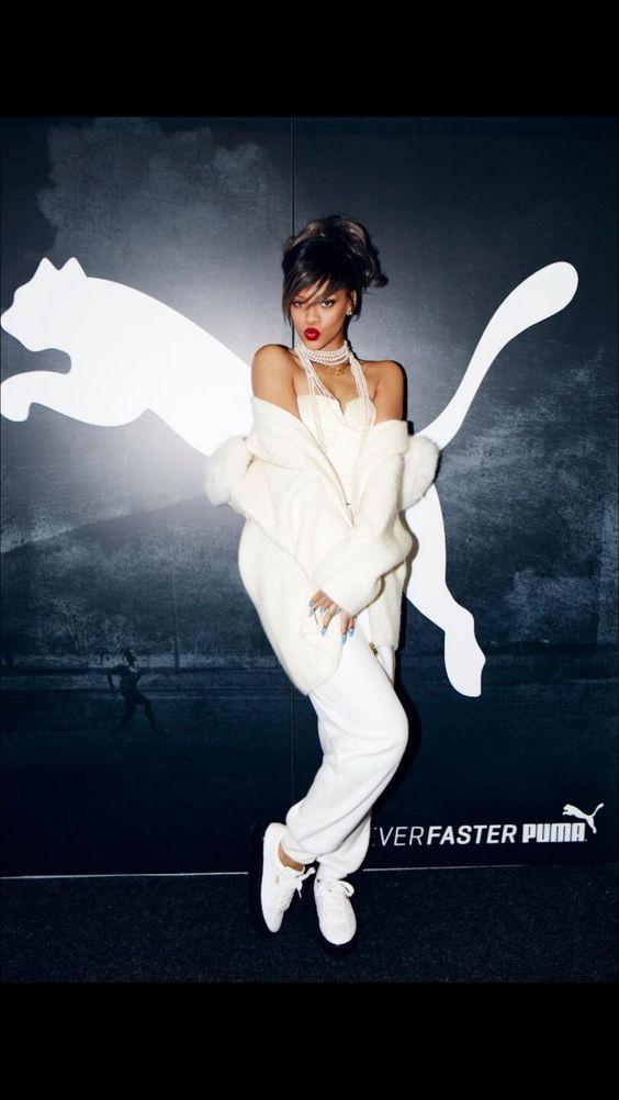 Un premier aperçu de la nouvelle campagne Puma incarnée par Rihanna: