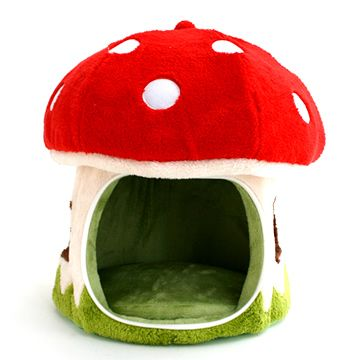 Mycophiles and Super Mario-philes will certainly adore this Mushroom Pet Bed | White Rabbit Express