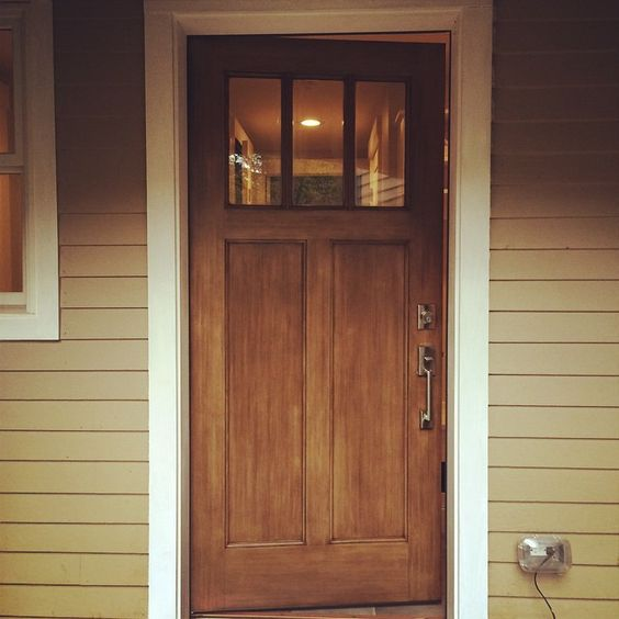 Make A Good Impression With Your Front Door This Thermatru Fiberglass Door Was Stained With