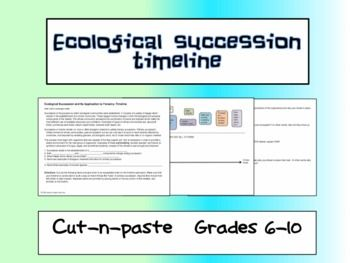 free ecological succession activity cut n paste and analysis questions on primary succession. Black Bedroom Furniture Sets. Home Design Ideas