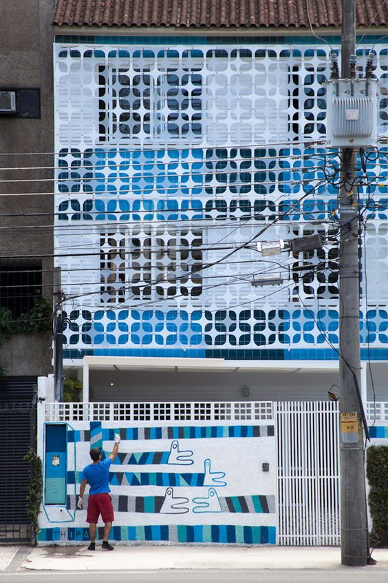 an amazing facade from a cool hostel in Rio #decor #architecture ...