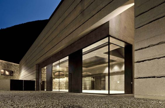 Info Point BBT Franzensfeste - Architect Markus Scherer. Lighting concept Eurolicht GmbH Bolzano.