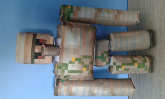 Boneco Iron Golem Minecraft