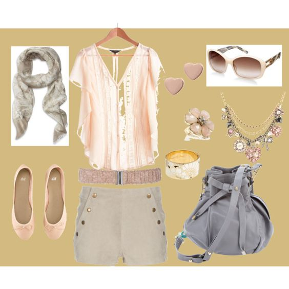 Light pink and gray combi for your sweet personality, created by #irenesimon on #polyvore. #fashion #style Jack BB Dakota Opening Ceremony