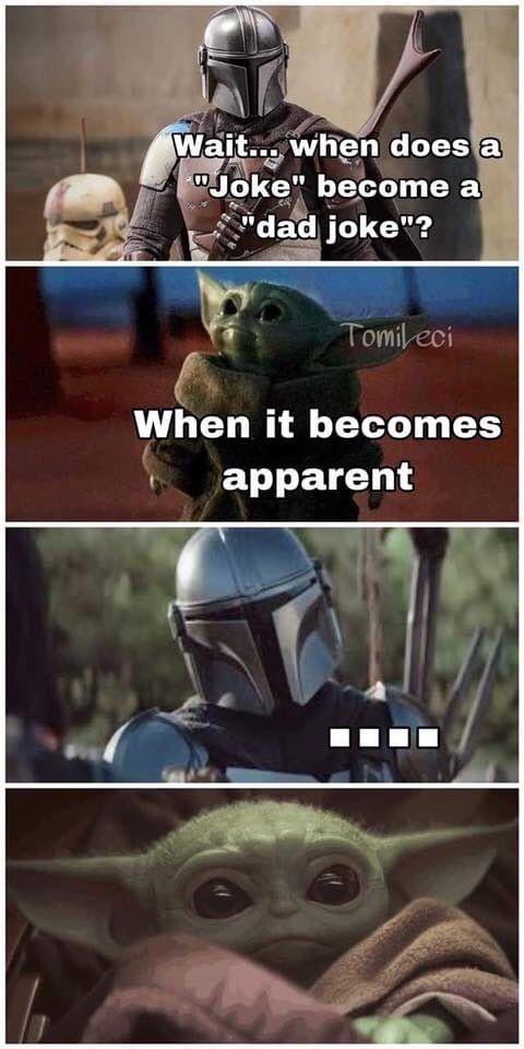 Cutest Dad Joke Ever Star Wars Humor Star Wars Jokes Star Wars Memes