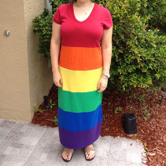 Rainbow maxi dress - My Sewing Creations - Pinterest - Maxis ...