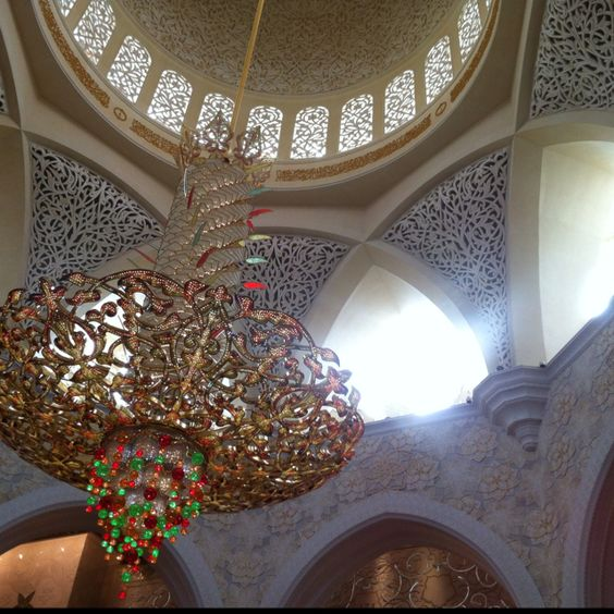Grand Chandelier - inside Abu Dhabi mosque