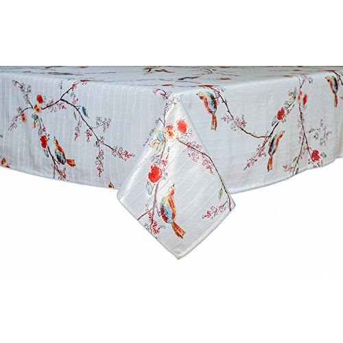 Lenox Where Entertaining Is Easy Care Vinyl Tablecloth 60 X 102 Inches Rectangle Chirp Bird Vinyl Tablecloth Table Cloth Lenox