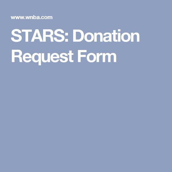 Stars Donation Request Form  Silent AuctionDonations