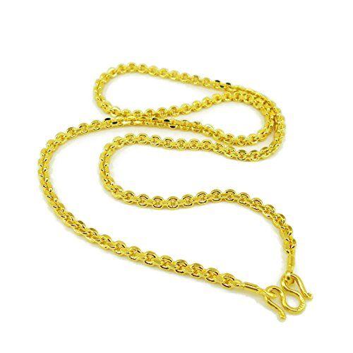 Chain 22k 23k 24k Thai Baht Yellow Gold Plated Necklace 1 Https Www Amazon Com Dp B074v8qlq1 Ref Cm Sw R Pi Chains Necklace Necklace Gold Plated Necklace