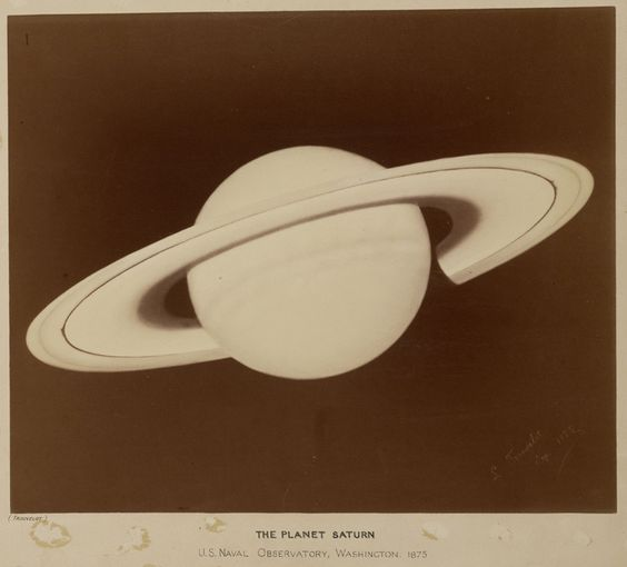 the planet saturn from the trouvelot astronomical drawings is a series of large format chromolithographic reproductions of astronomical illustrations by
