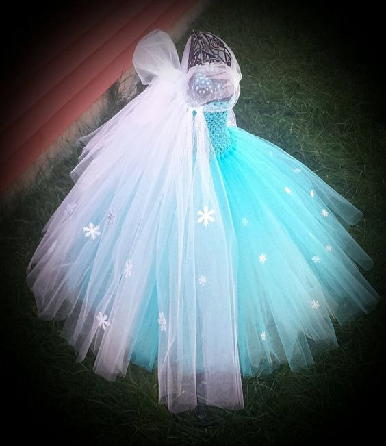Queen Elsa Frozen inspired tutu dress by Aidascreativecorner