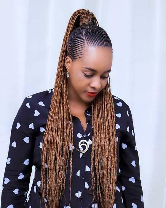 Stunningly Cute Ghanaian Braids Styles Wedding Digest Naija Blog In 2020 African Hair Braiding Styles Cornrows Styles African Braids Hairstyles