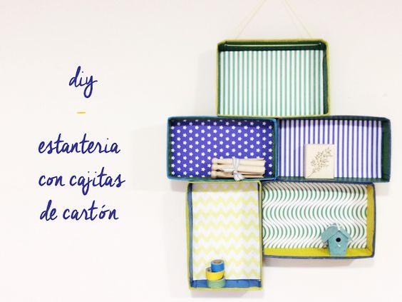 DIY - Estantería de cajitas de cartón