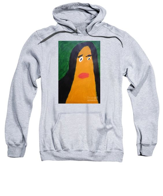 Patrick Francis Heather Designer Hooded Sweatshirt featuring the painting Portrait Of Woman With Hair Loose 2015 - After Vincent Van Gogh by Patrick Francis
