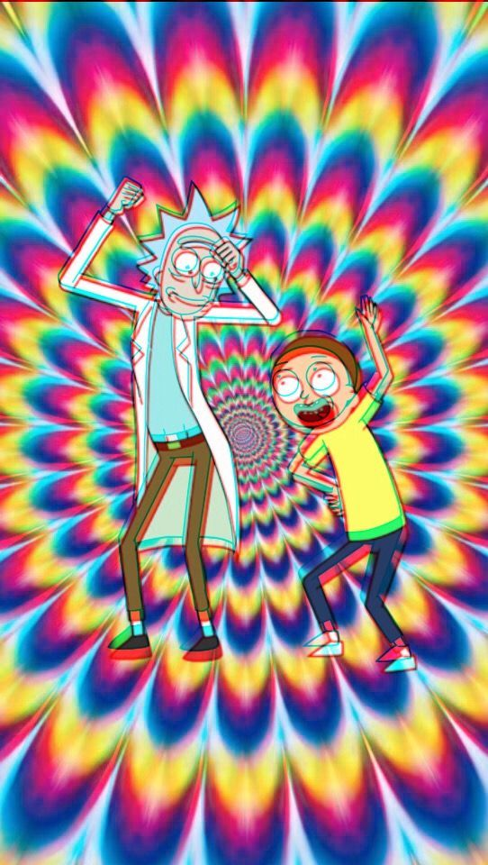Buts Buts Buts Trippy Wallpaper Rick And Morty Poster