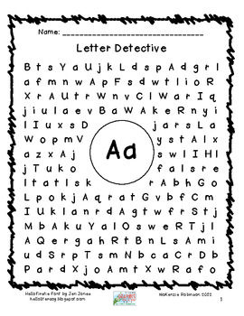 Find a Letter: Letter Detective | A Letter, Detective and Letters