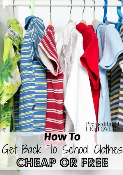 How to Get Back to School Clothes Cheap or Free. I love a bargain as much as the next mom. Check out these tips for scoring free and cheap clothing.