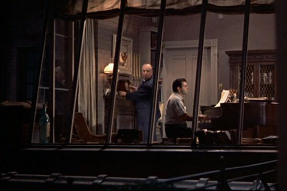 Rear Window (1954) Winding a clock in the songwriter's apartment.: