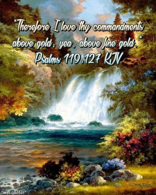 Psalm 119:127 King James KJV