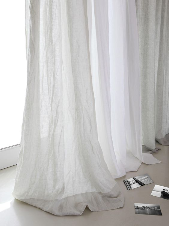 Curtains linen curtains and white curtains on pinterest for Sky blue curtains for bedroom