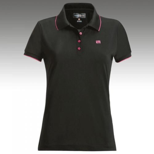 Womens Golfing Shirts By Loudmouth Golf Border Black W