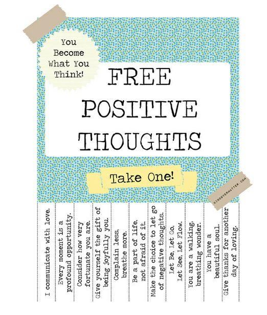 Free printable positive thoughts