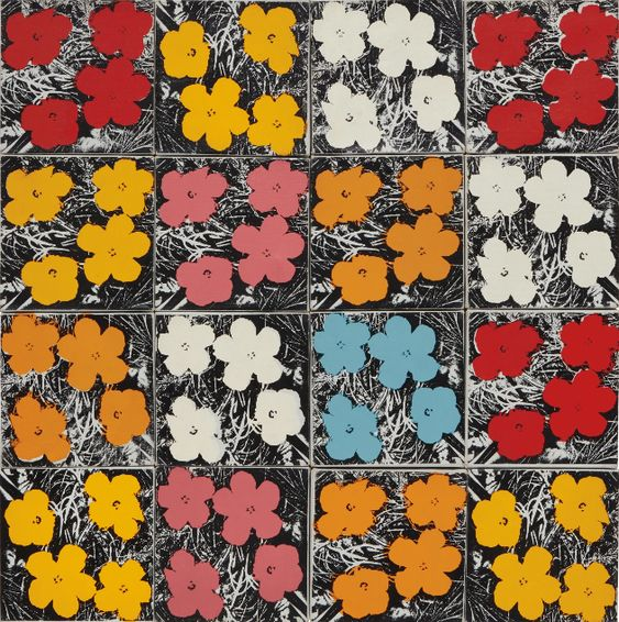 """16 Flowers"" by Andy Warhol (1965)"