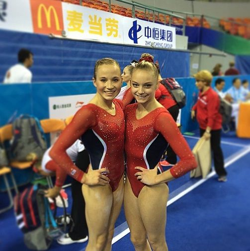 Madison Kocian and alyssa baumann