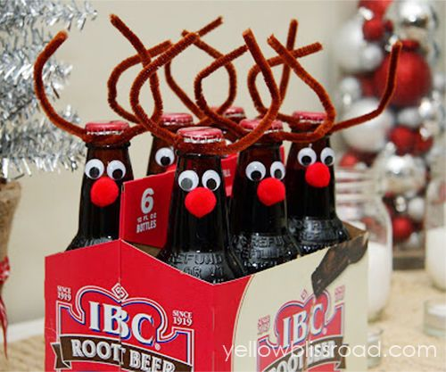 Reindeer Bottles christmas christmas crafts christmas diy christmas party ideas christmas decoration