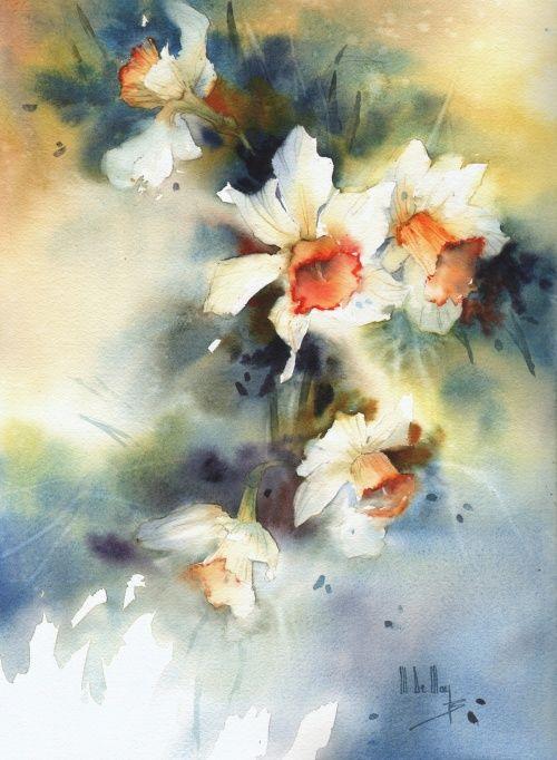 Galerie D Aquarelles Maryse De May Peinture Fleurs Bouquet