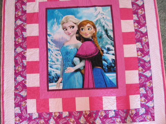 Twin Size Quilt Frozen Quilt 68 x 82 Anna by TheKingsQuiltShop