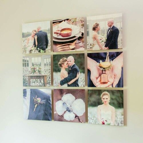 Gallery of wedding photos for master bedroom wall