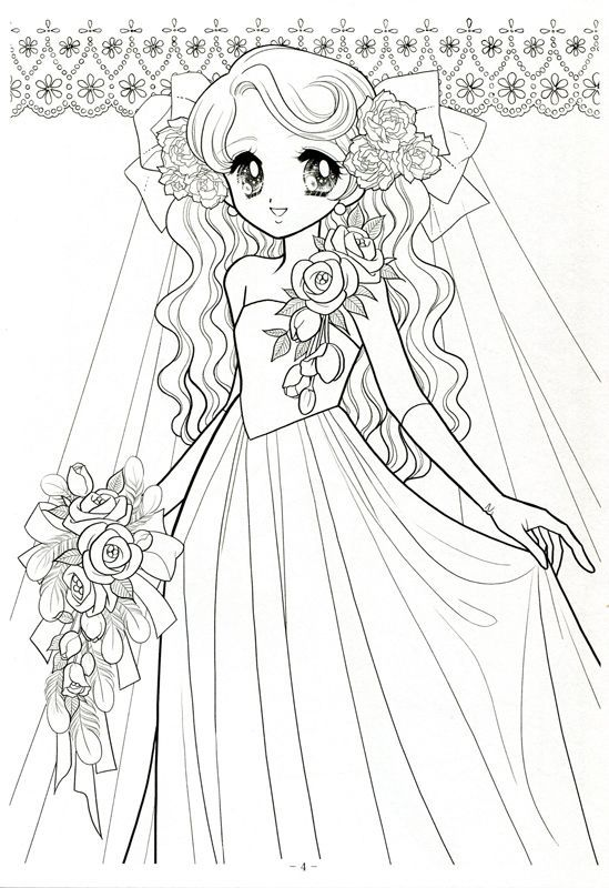 Japanese Anime Coloring Pages For Girls Preschool In Tiny