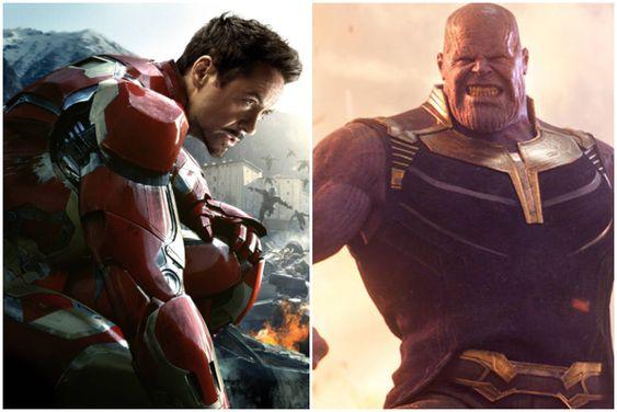 Thanos and Iron Man