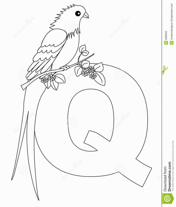 Q Coloring Pages