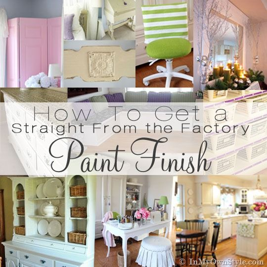 How to get a perfect paint finish when painting furniture.