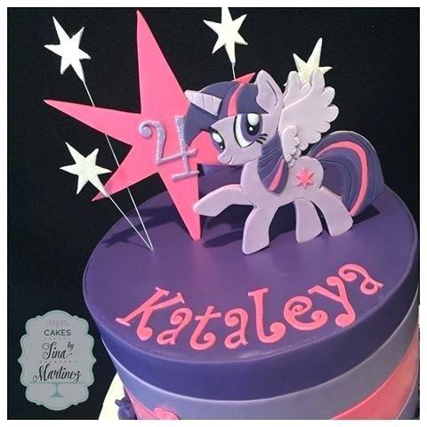 Astounding My Little Pony Birthday Cake Twilight Sparkle With Handmade Topper Funny Birthday Cards Online Overcheapnameinfo