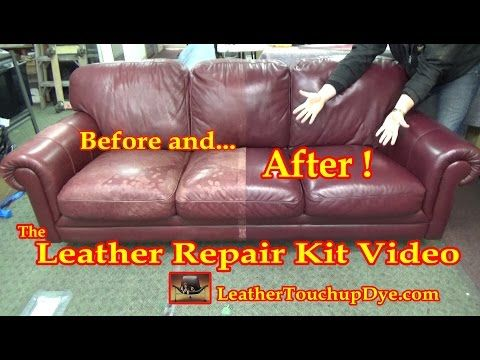 The Leather Repair Kit Video Youtube Leather Sofa