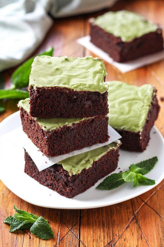 Vegan Mint Chocolate Brownies: