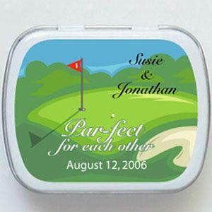 Golf Mint Tins Favors
