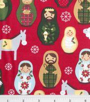 Holiday Inspirations Fabric-Matryoshka Dolls, , hi-res