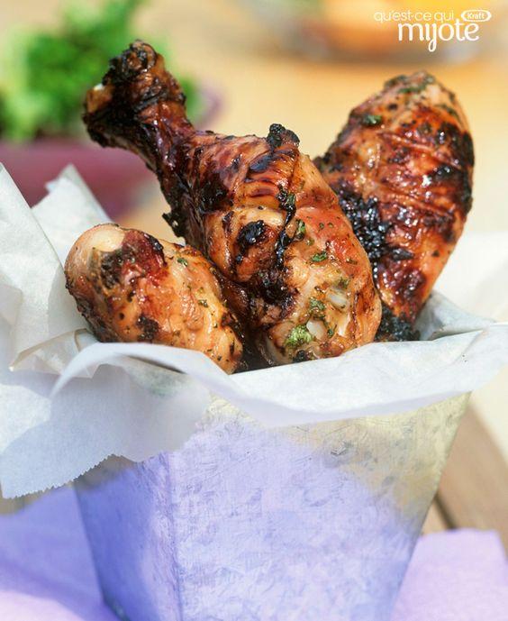 Pilons de poulet grillés à la grecque #recette