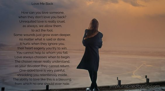 """Love Me Back"" is a poem about unrequited love. That feeling that most of us have experienced, when we love someone and they do not even realise, or reject our love :(  For more of my contemporary poetry, please visit:  https://www.inspiredbyelle.com/pages/poetry  #Poetry #Poem #Love #Emotions"