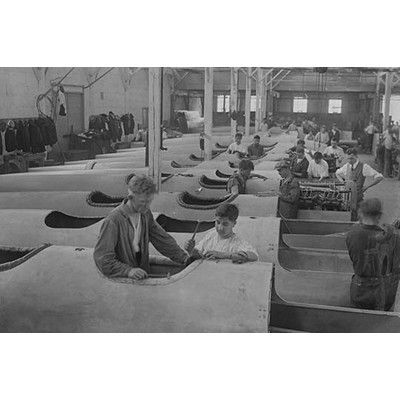 Buyenlarge 'Plane Bodies Lined Up at College Point Manufacturing Plant' Photographic Print Size: 2