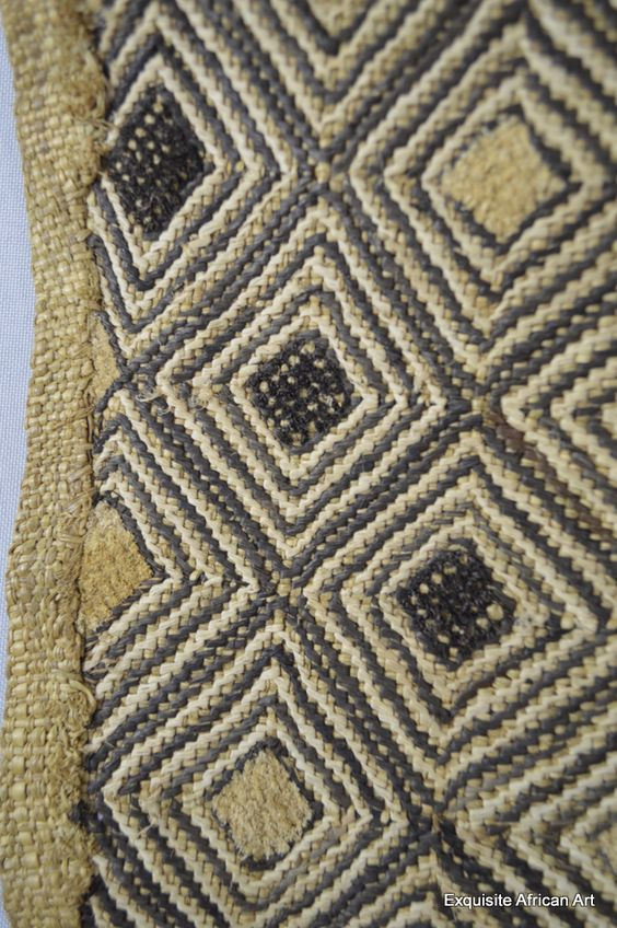 Detail of previous pin ..hand made Kuba Shoowa textile from the Kasai region of Kuba Kingdom Democratic Republic of Congo.
