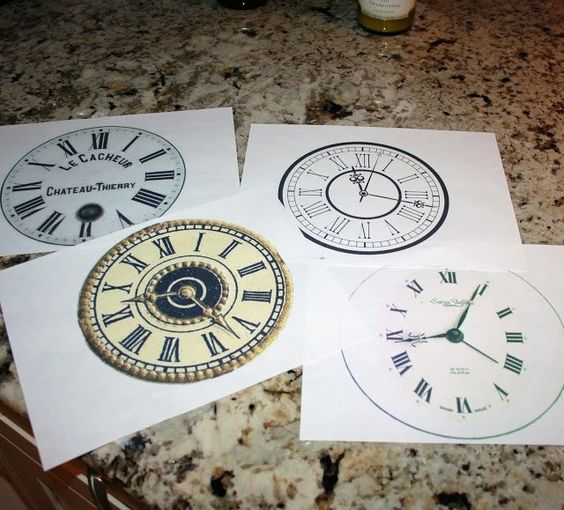 2015 New Years Printable Clock Plates Pattern - Clock Craft, New Years Decor  #2015 #new #year: