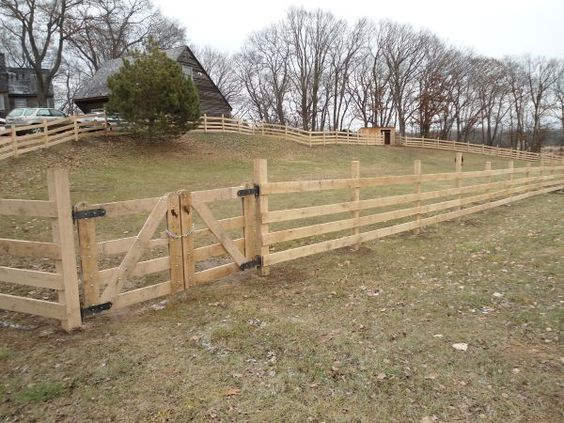 Just a simple wood fencing could paint it a good color to for Simple fence
