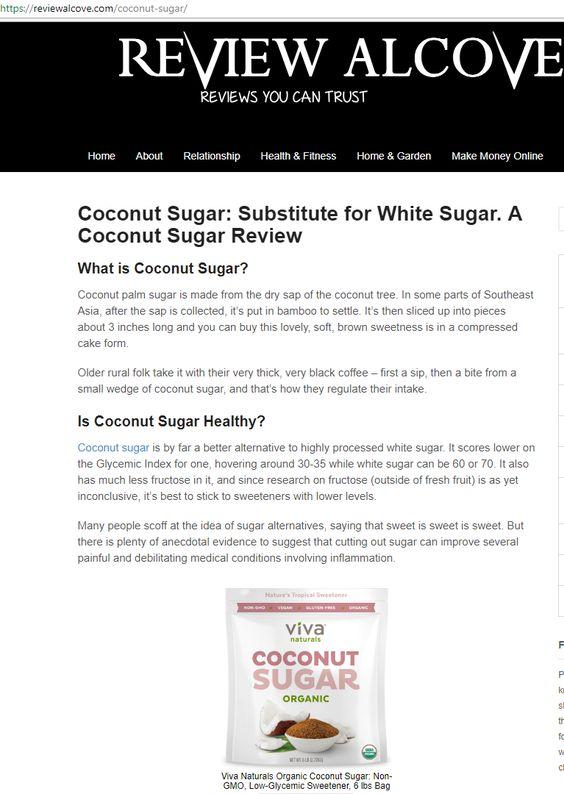 Coconut Sugar: Substitute for White Sugar. A Coconut Sugar Review